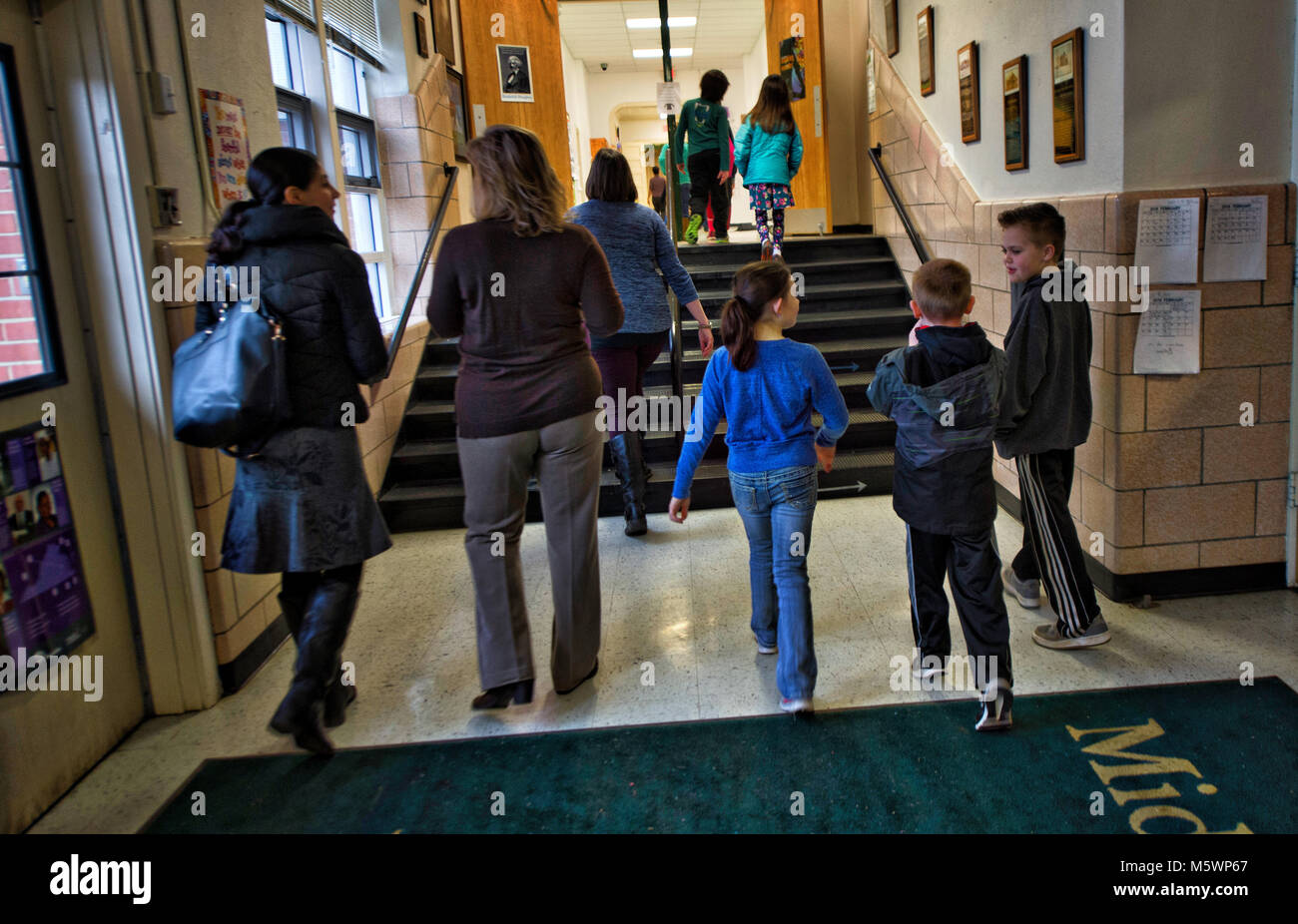 UNITED STATES: Feb. 26, 2018: LoudounÕs two charter schools once had a hard time filling classes but they now - Stock Image