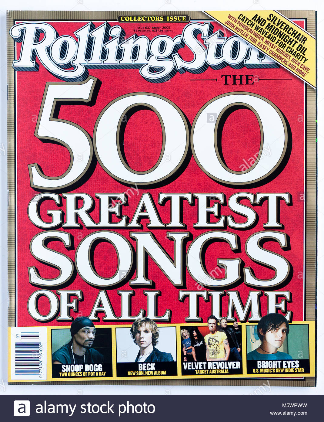 The cover of Rolling Stone magazine, issue 637, 500 Greatest Songs of All Time - Stock Image