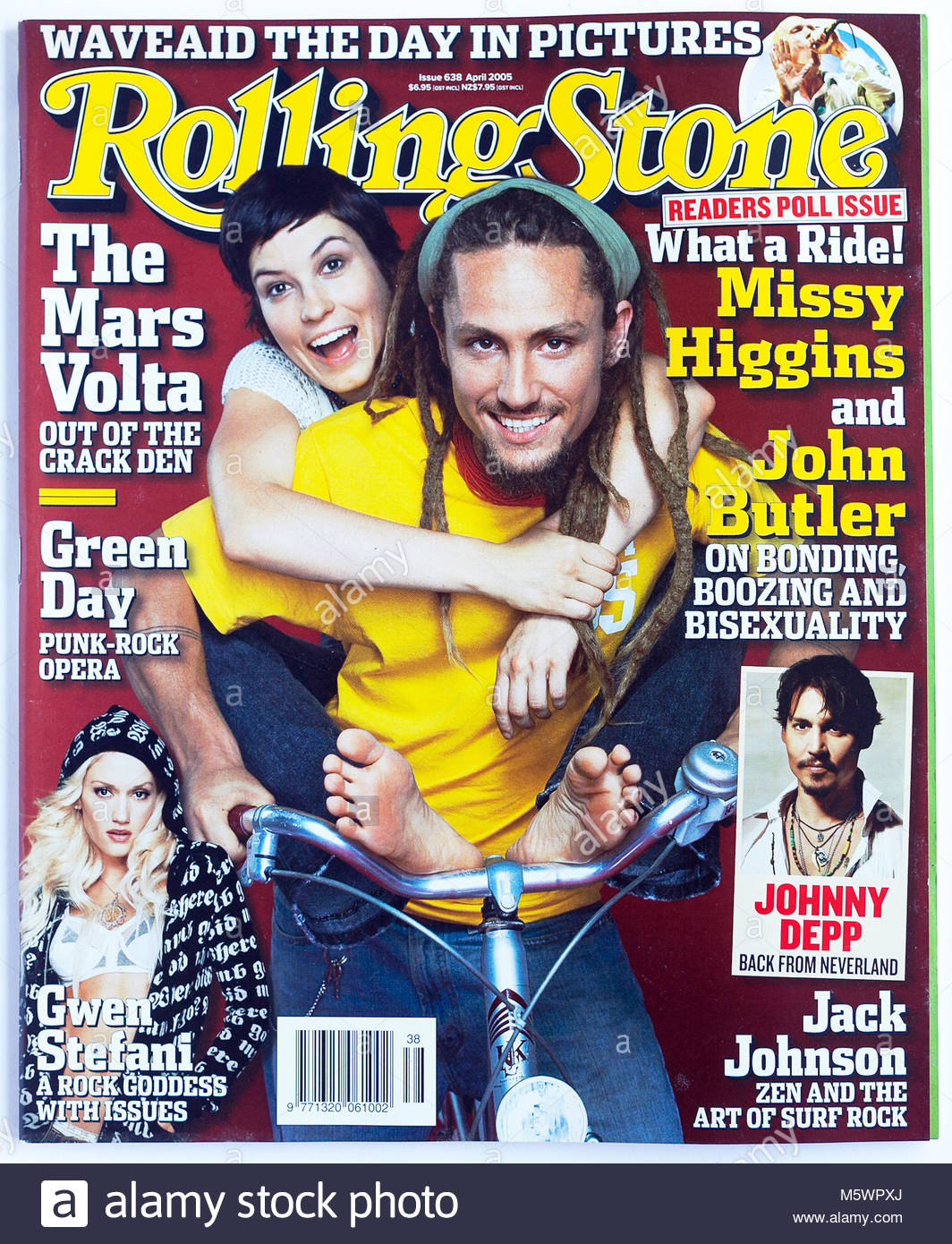 The cover of Rolling Stone magazine, issue 638, Missy Higgins and John Butler - Stock Image