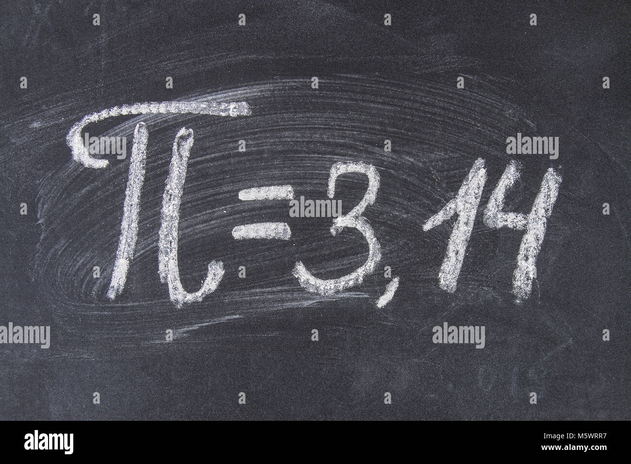 The Mathematical Sign Or Symbol For Pi On A Blackboard Stock Photo