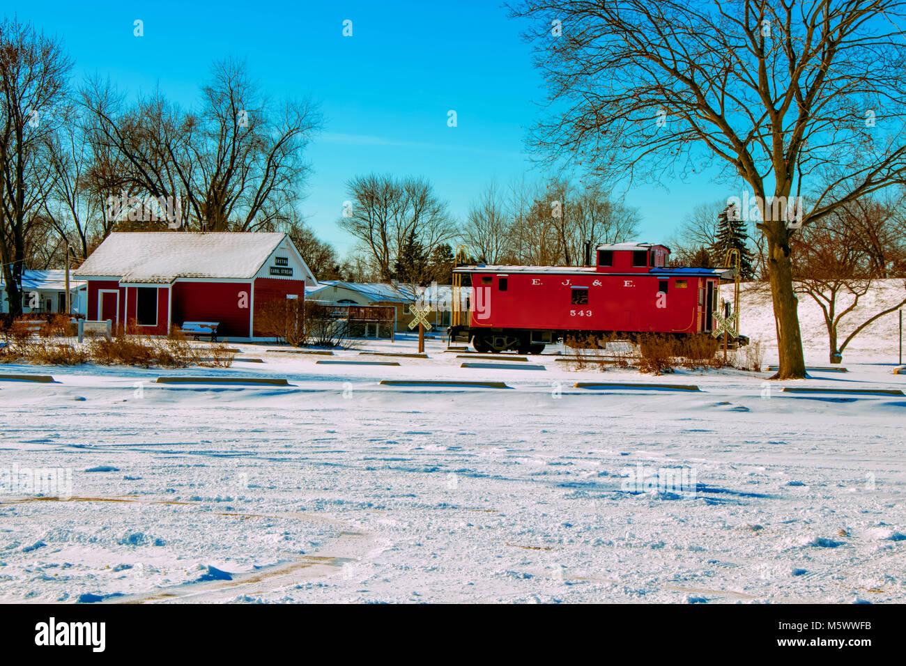 Carol Stream Il >> Old Train Station Carol Stream Il Stock Photo 175745791