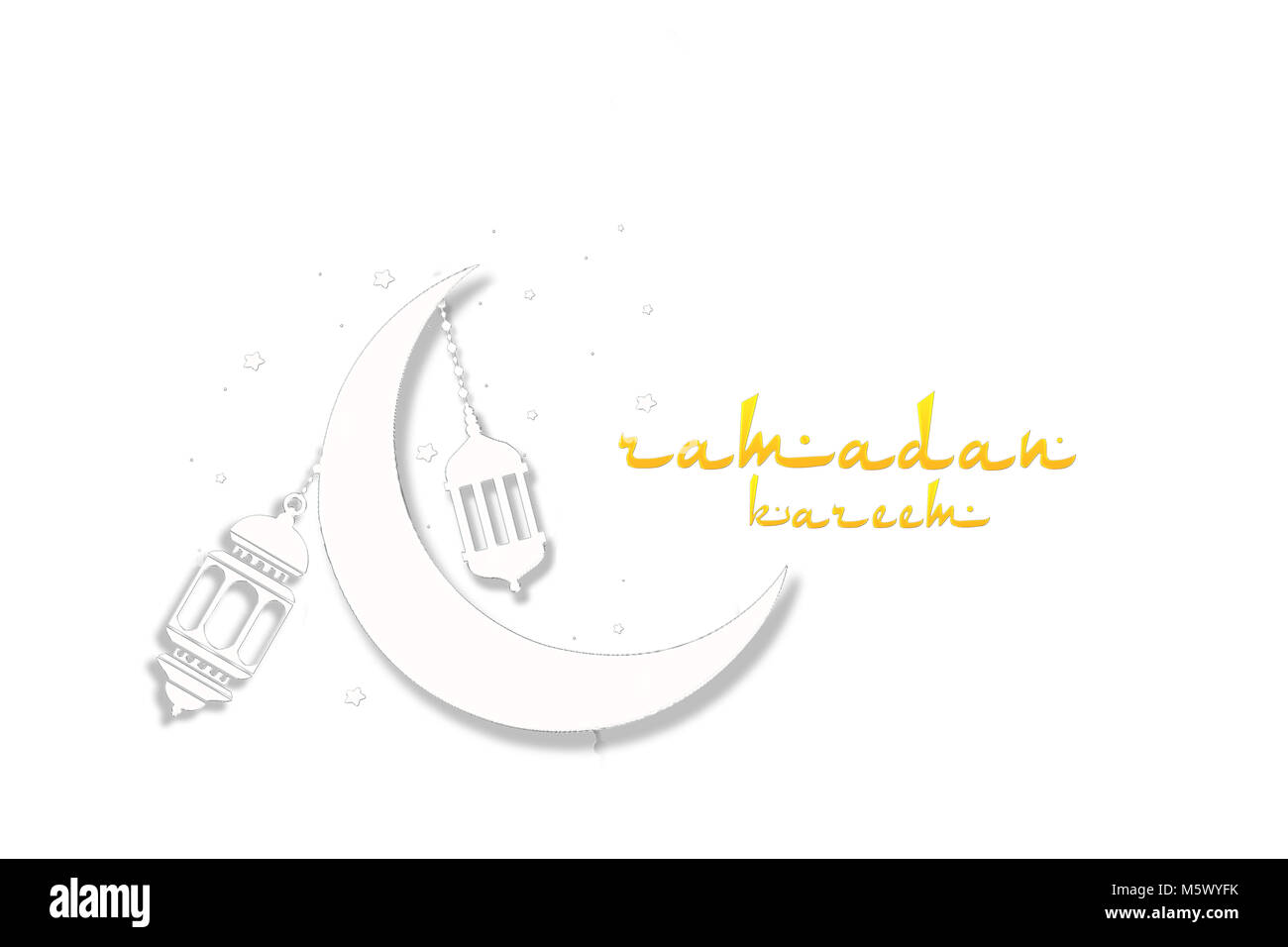 Happy Eid Mubarak Ramadan Kareem Beautiful Greeting Card Stock