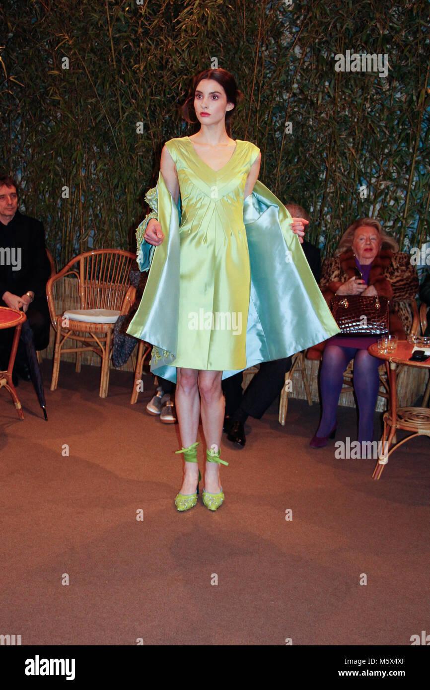 Milan, Italy. 26th Feb, 2018. 'Curiel' fashion show at Milan Fashion Week 2018, 26th February 2018. @giacferrari - Stock Image