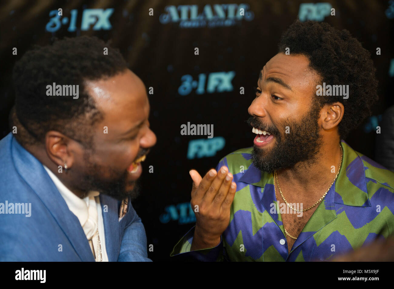Atlanta, USA. 26th Feb, 2018. Actor Brian Tyree Henry and actor/recording artist Donald Glover attends 'Atlanta - Stock Image