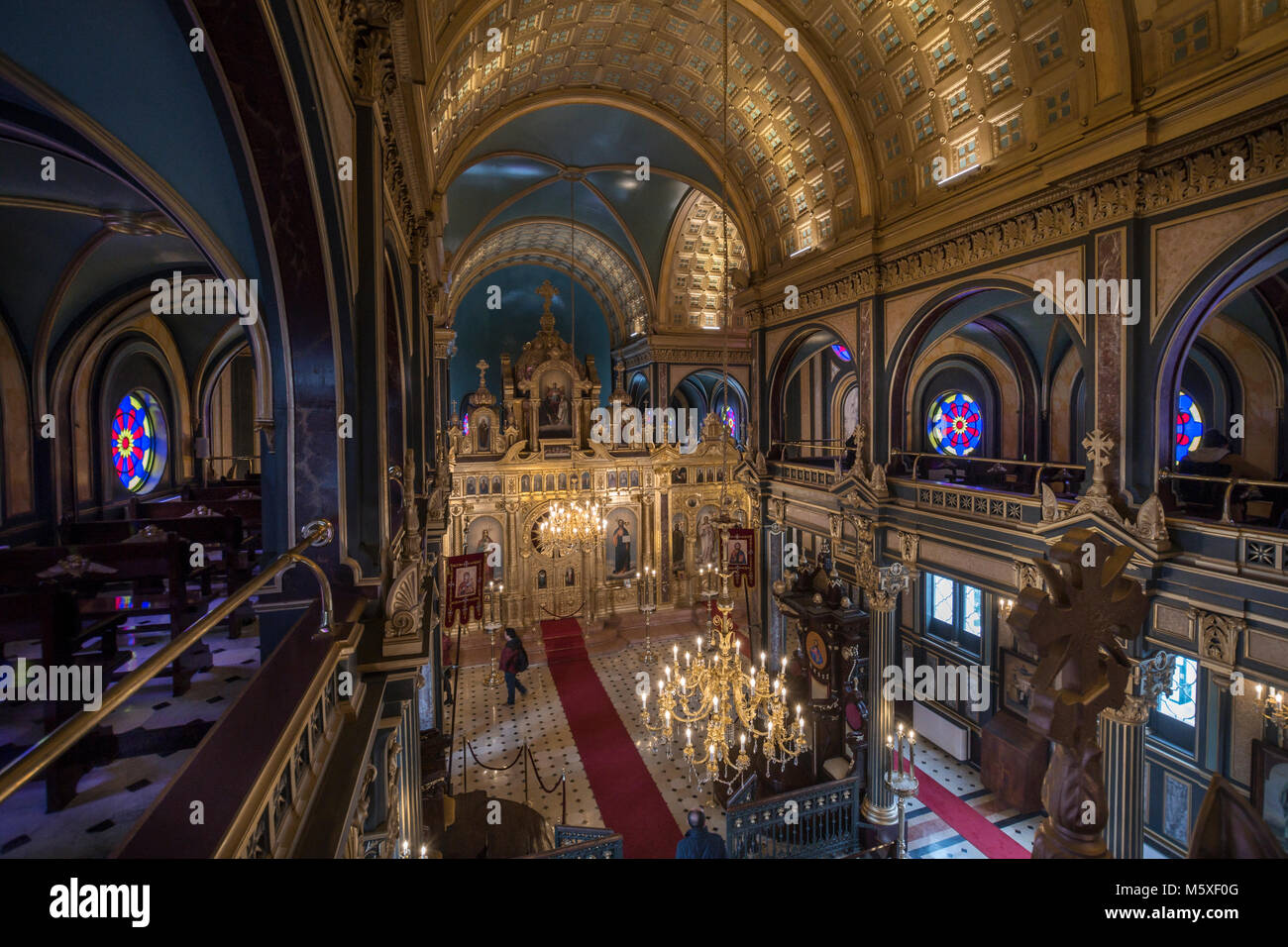 Interior view of The Bulgarian St Stephen Church,Istanbul,Turkey - Stock Image