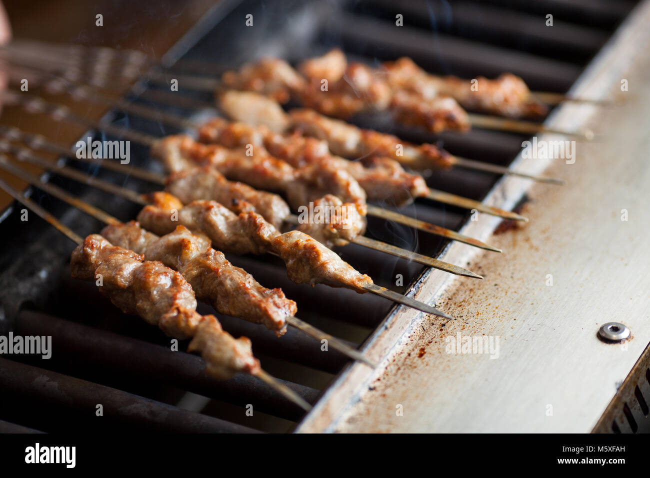Chinese Roasted Lamb Kebabs Xinjiang Cuisine Stock Photo 175759769