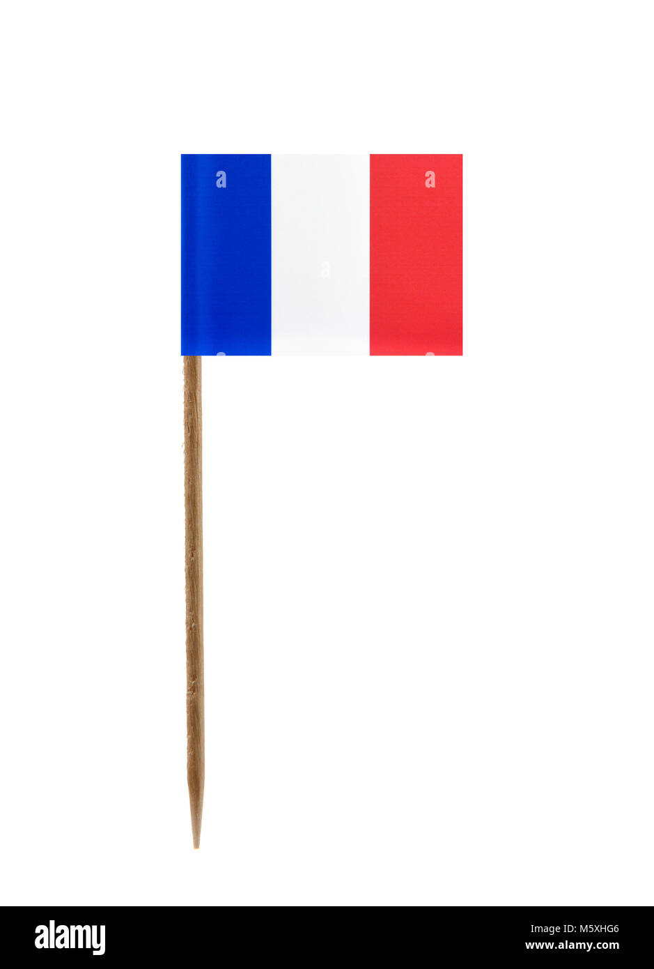Tooth pick wit a small paper flag of France Stock Photo