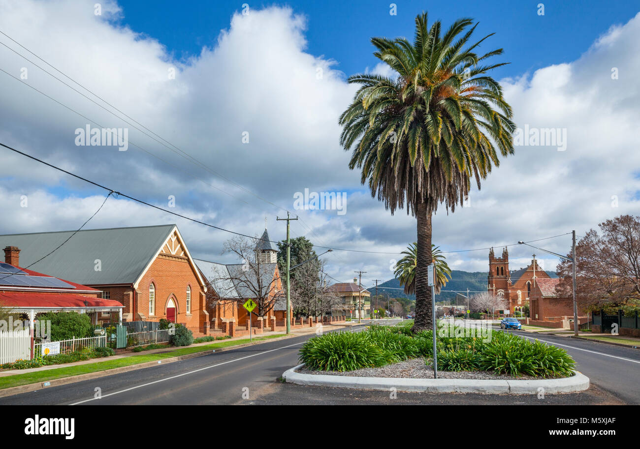 Australia, inland New South Wales, Wellington, view of Warne Street Stock Photo