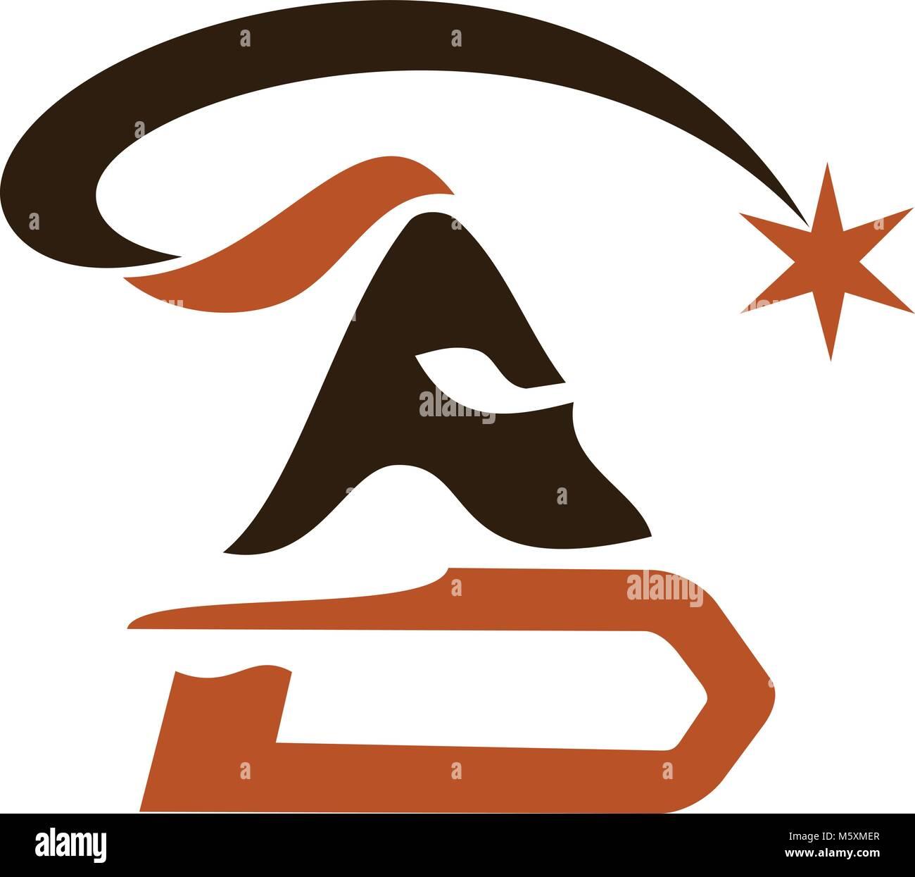 Spartan Warrior Logo Design Template Vector - Stock Vector