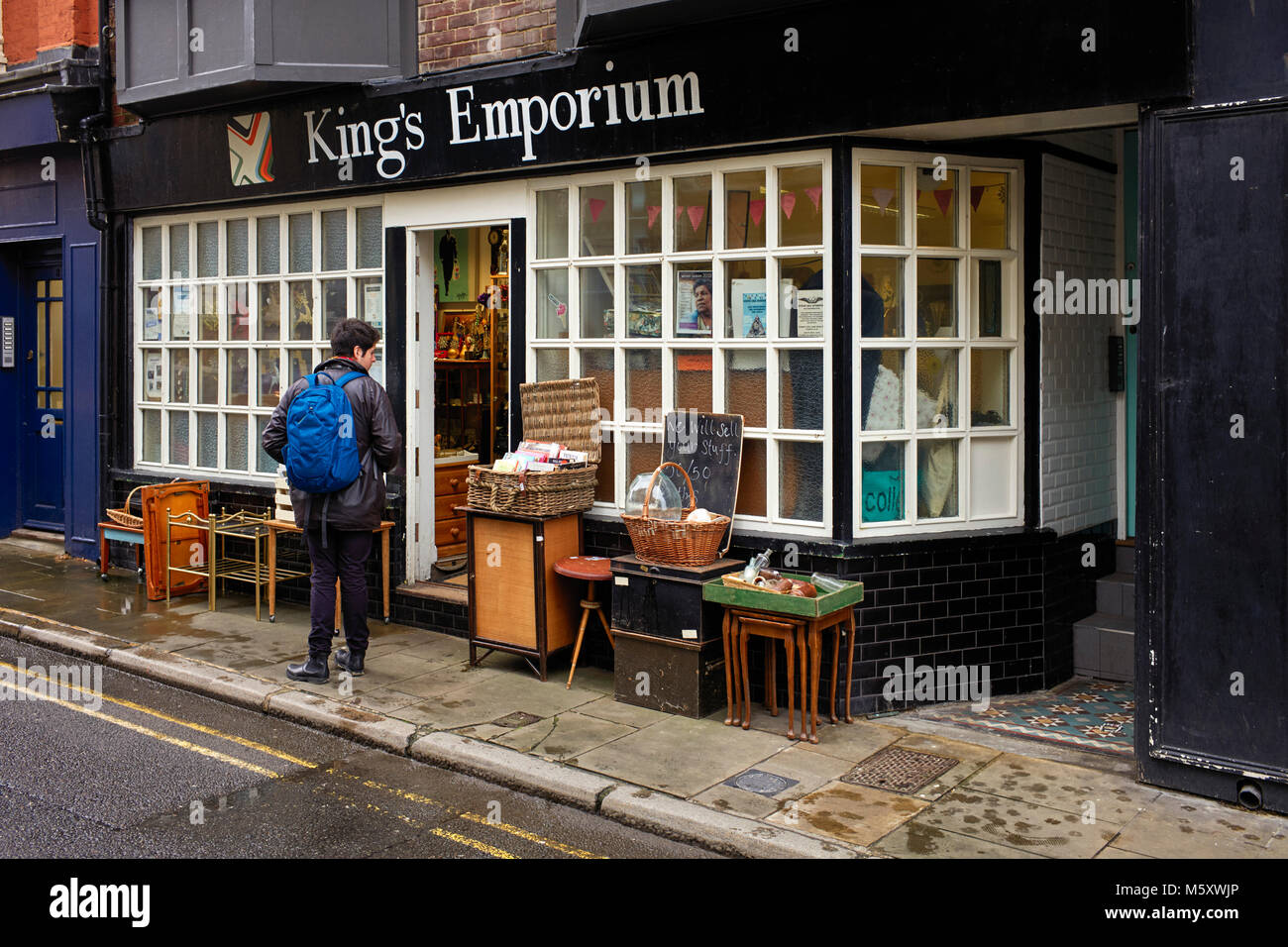 Kings Emporium secondhand shop in the creative quarter of Margate - Stock Image