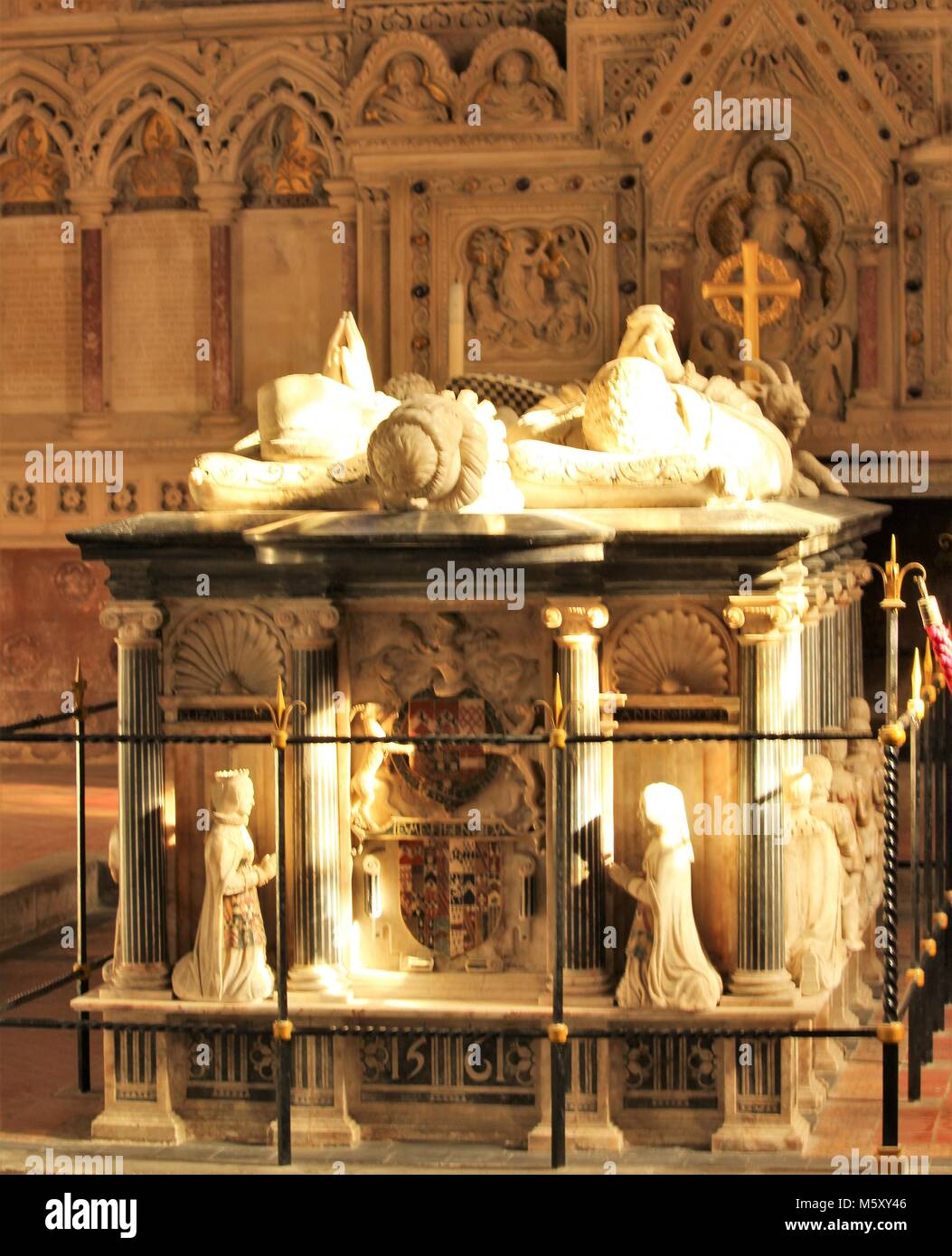 The Tomb of the 9th Baron of Cobham, St Mary Magdalene Church, Cobham, Gravesend, Kent - Stock Image