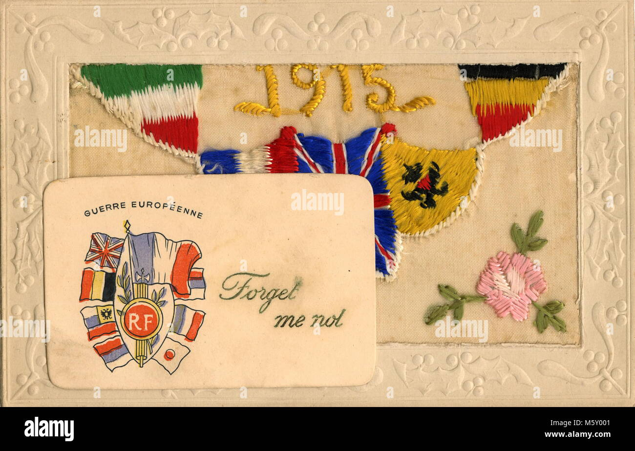 Forces Mail Stock Photos Images Alamy Hoc Store Black Floral French Cuff Ajaxnetphoto 1914 1918 Ww1 Ephemera A Colour Printed Small Card With