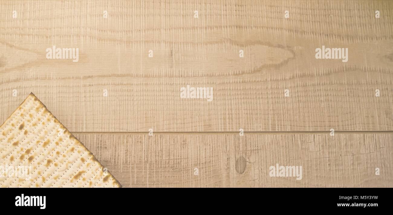 High Key Banner Passover Background Jewish Traditional Matzah Top View On Rustic Wooden With Copy Space Israel National Holiday Meal
