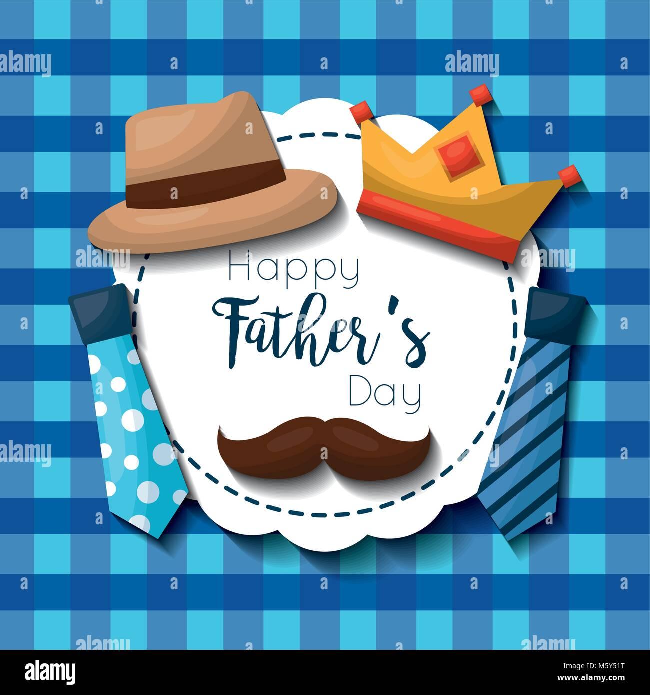 fathers day celebration card - Stock Image