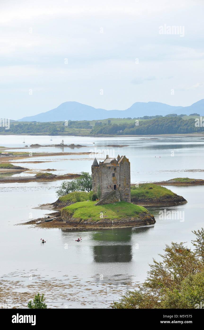 Stalker Castle, Loch Laich,  Argyll, Scotland - Stock Image