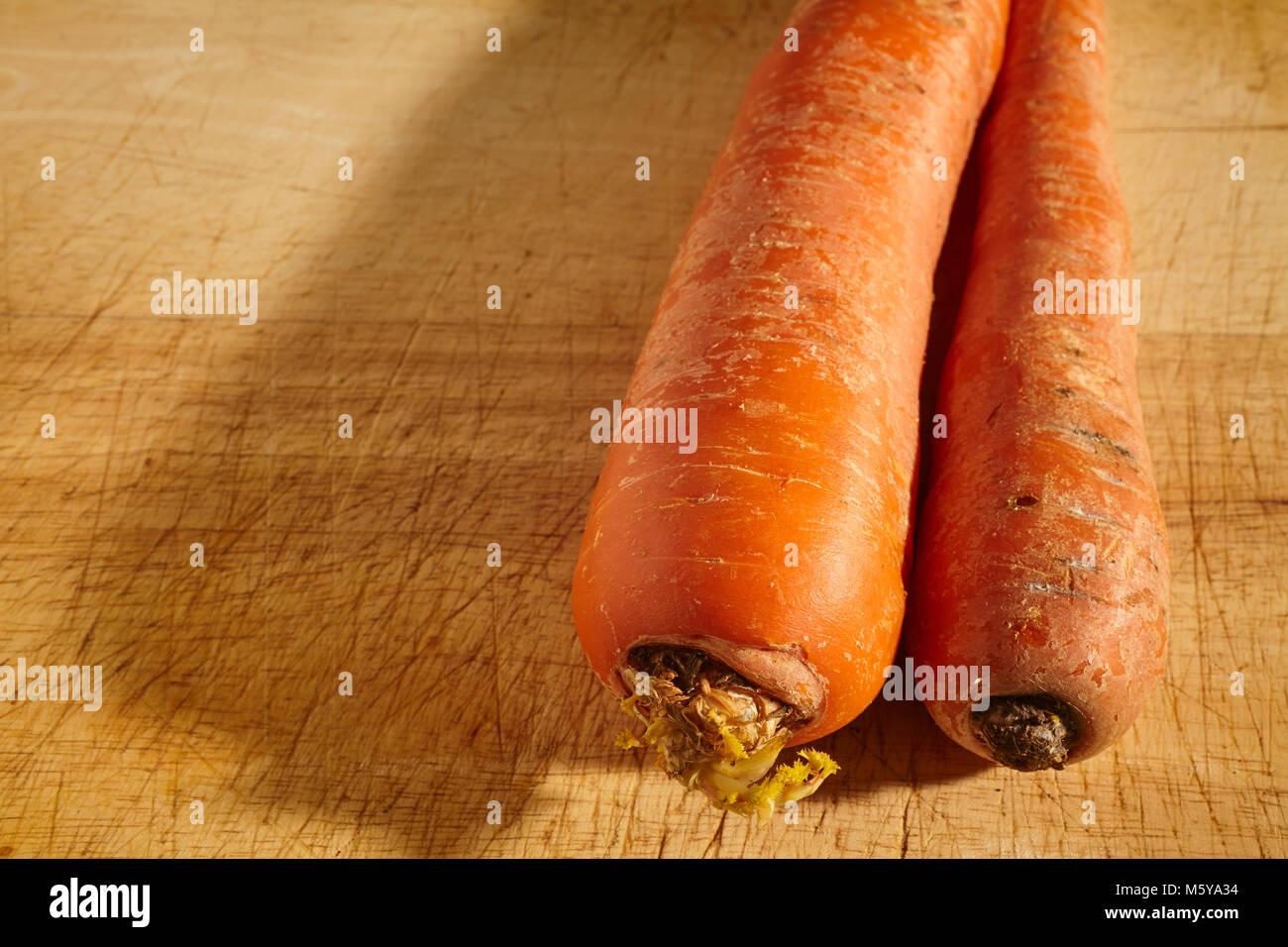whole, fresh, raw carrot - Stock Image