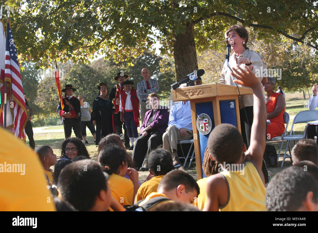 Kathleen Brown National Park Foundation Speaks To Fourth Graders Stock Photo Alamy