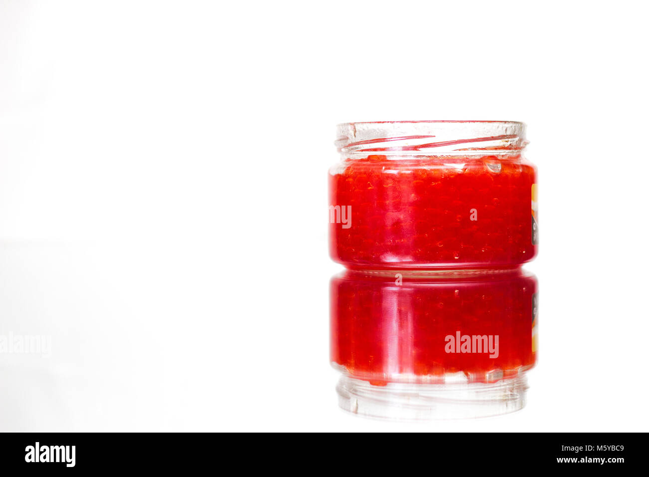 can of red caviar - Stock Image