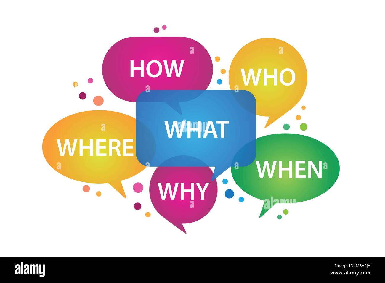 speech bubbles with question design - Stock Image