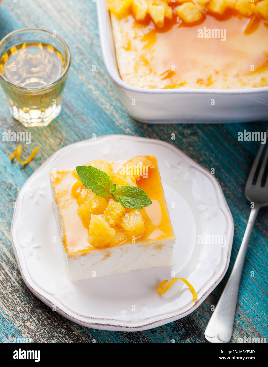 Awesome Cheesecake Cottage Cheese Pudding With Fresh Oranges And Download Free Architecture Designs Intelgarnamadebymaigaardcom