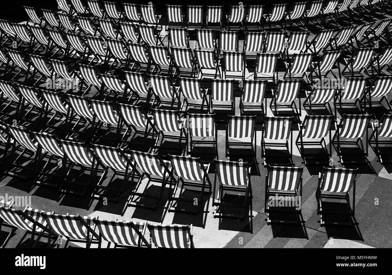 Deckchairs - Stock Image