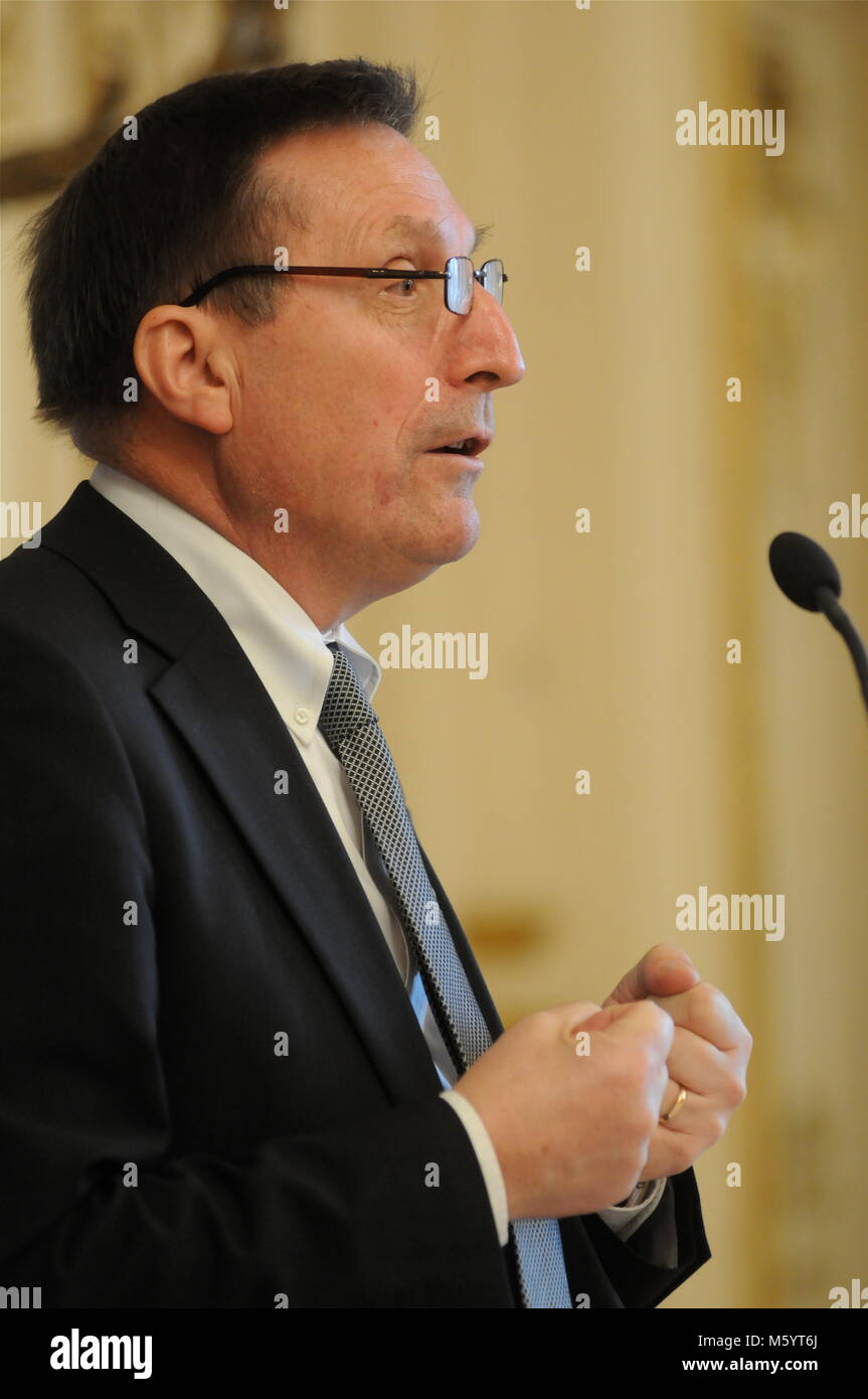Jean-Noel Vioud, General Attorney at Klaus Barbie Trial talks in Lyon, France Stock Photo