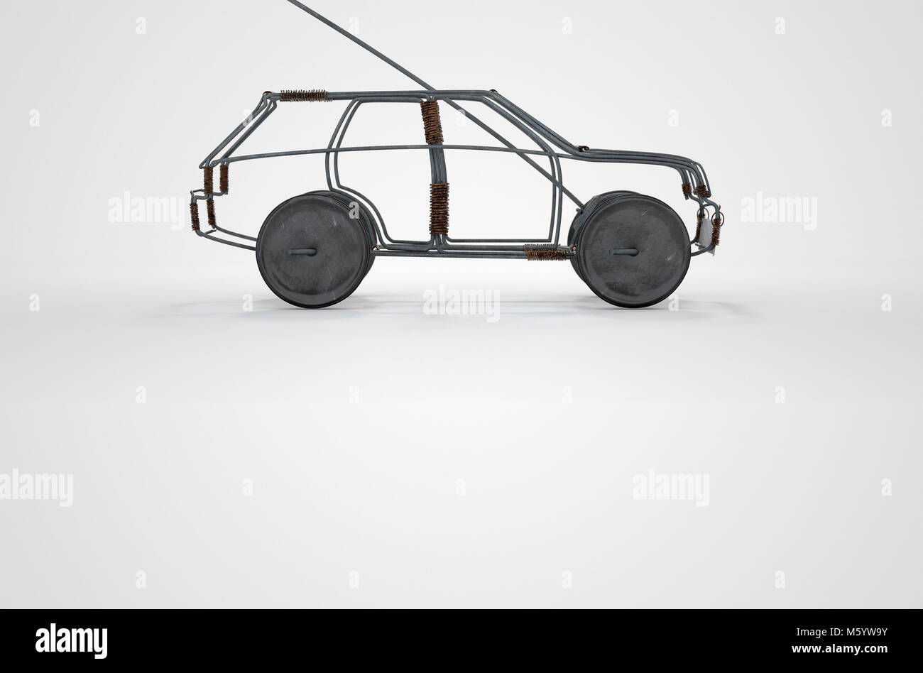 A traditional south african handmade wire toy car made out of metal ...