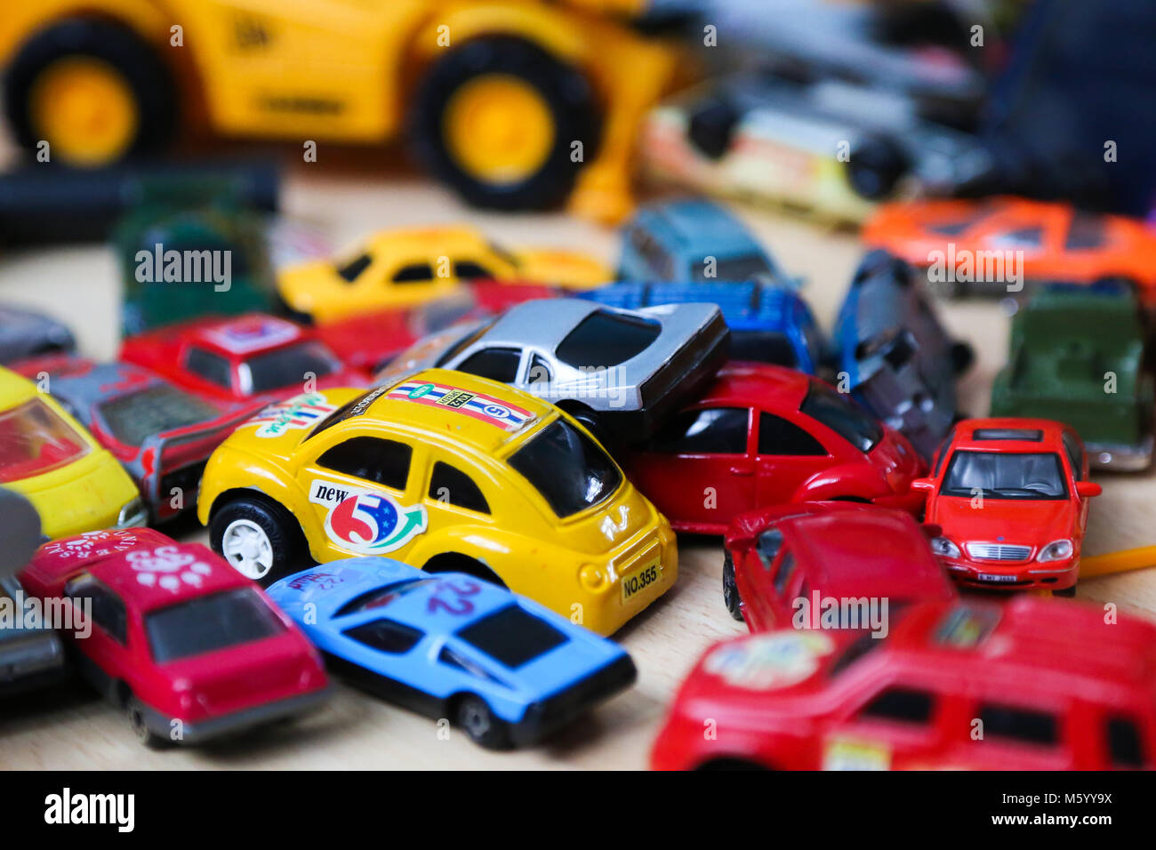 General view of plastic toys.  A study by Dr Andrew Turner, of the University of Plymouth has found that plastic - Stock Image