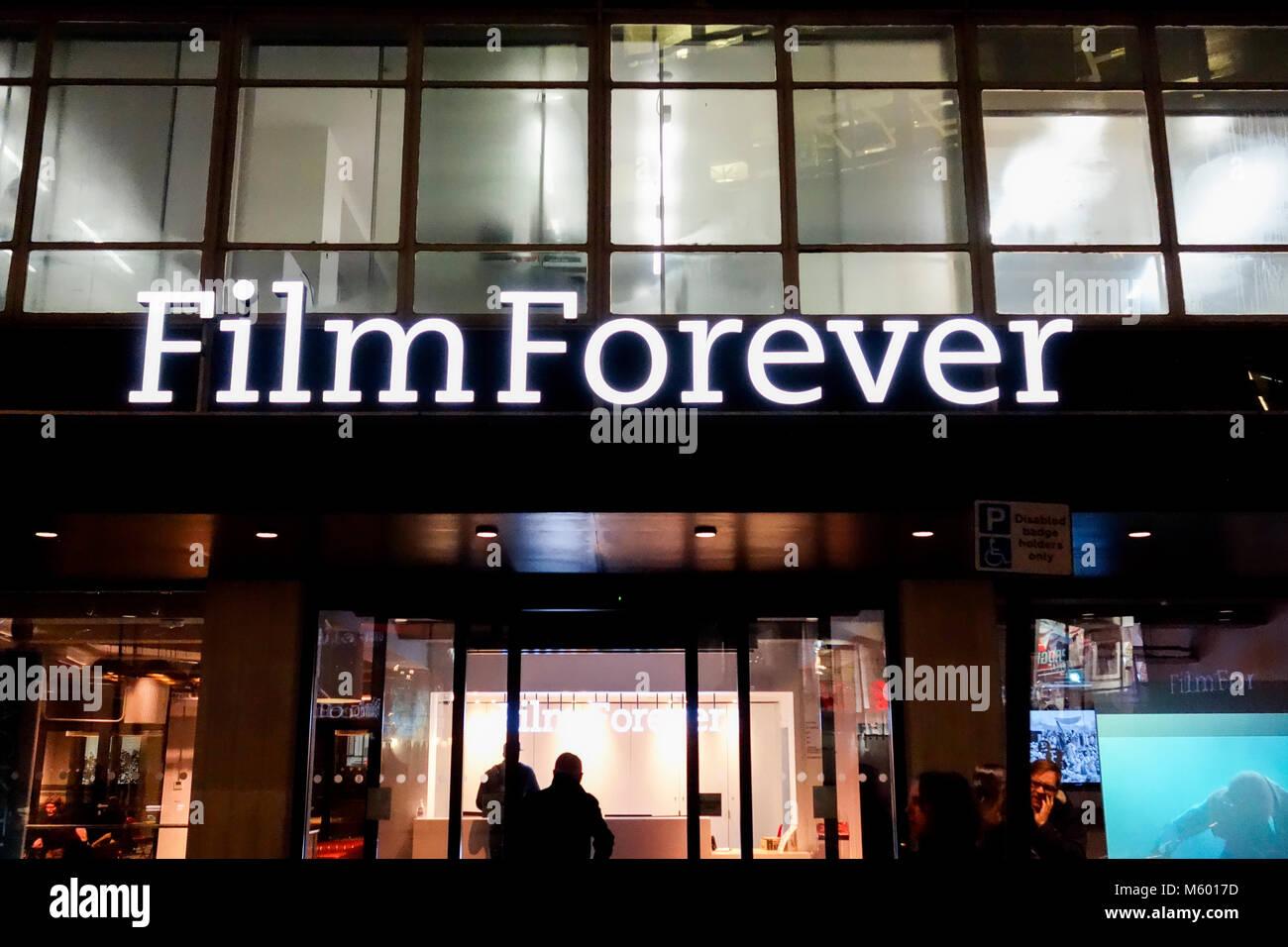 BFI Film Forever on Stephen Street, Fitzrovia, London, W1, UK - Stock Image