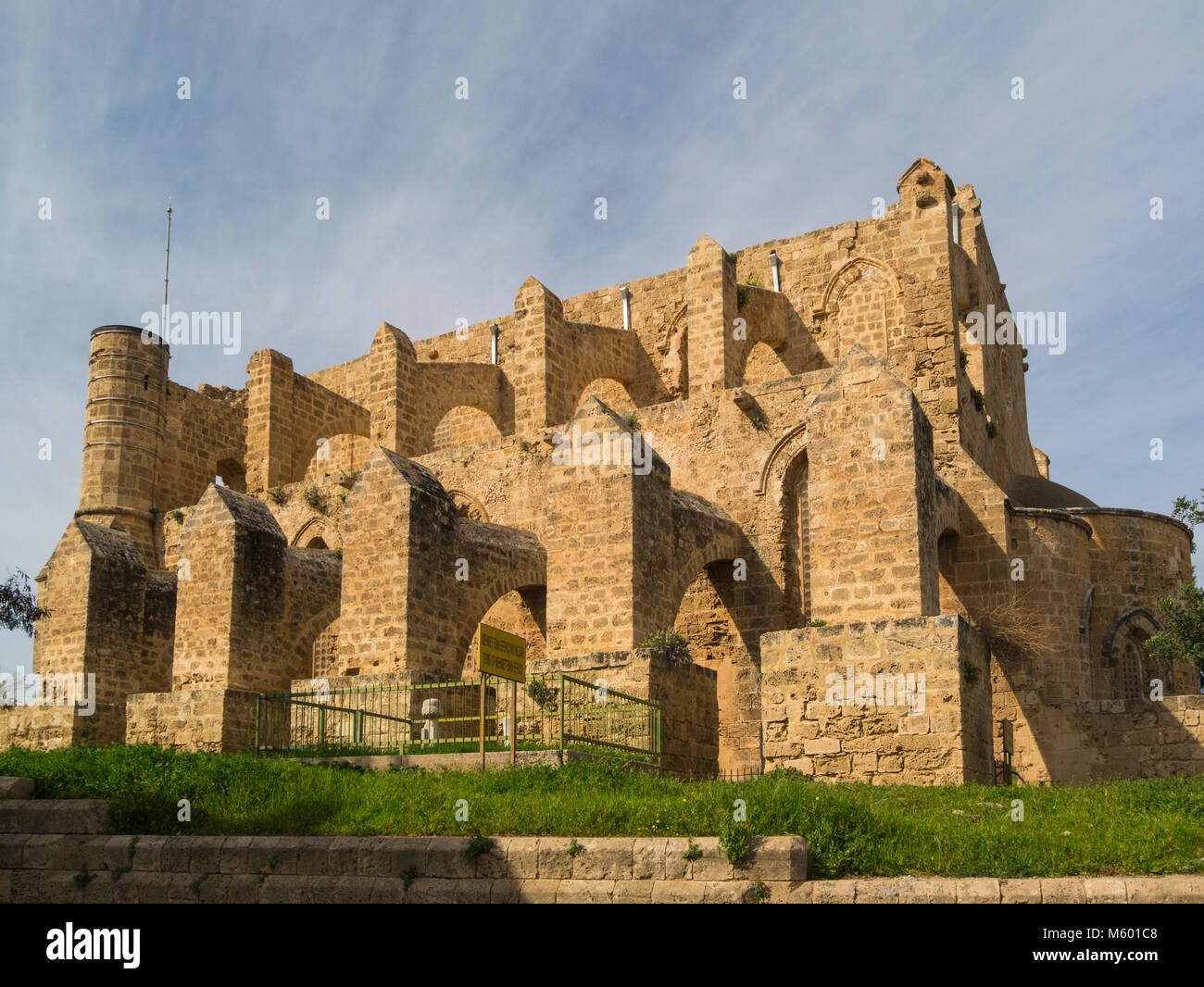 Church of Sts. Peter and Paul (1359) was converted into a mosque in 1571  renamed as the Sinan Pasha Mosque Famagusta - Stock Image