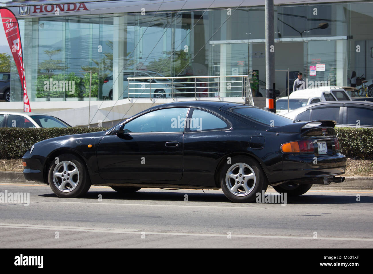 CHIANG MAI, THAILAND  JANUARY 22 2018: Private Car, Toyota Celica. Photo At  Road No 121 About 8 Km From Downtown Chiangmai, Thailand.