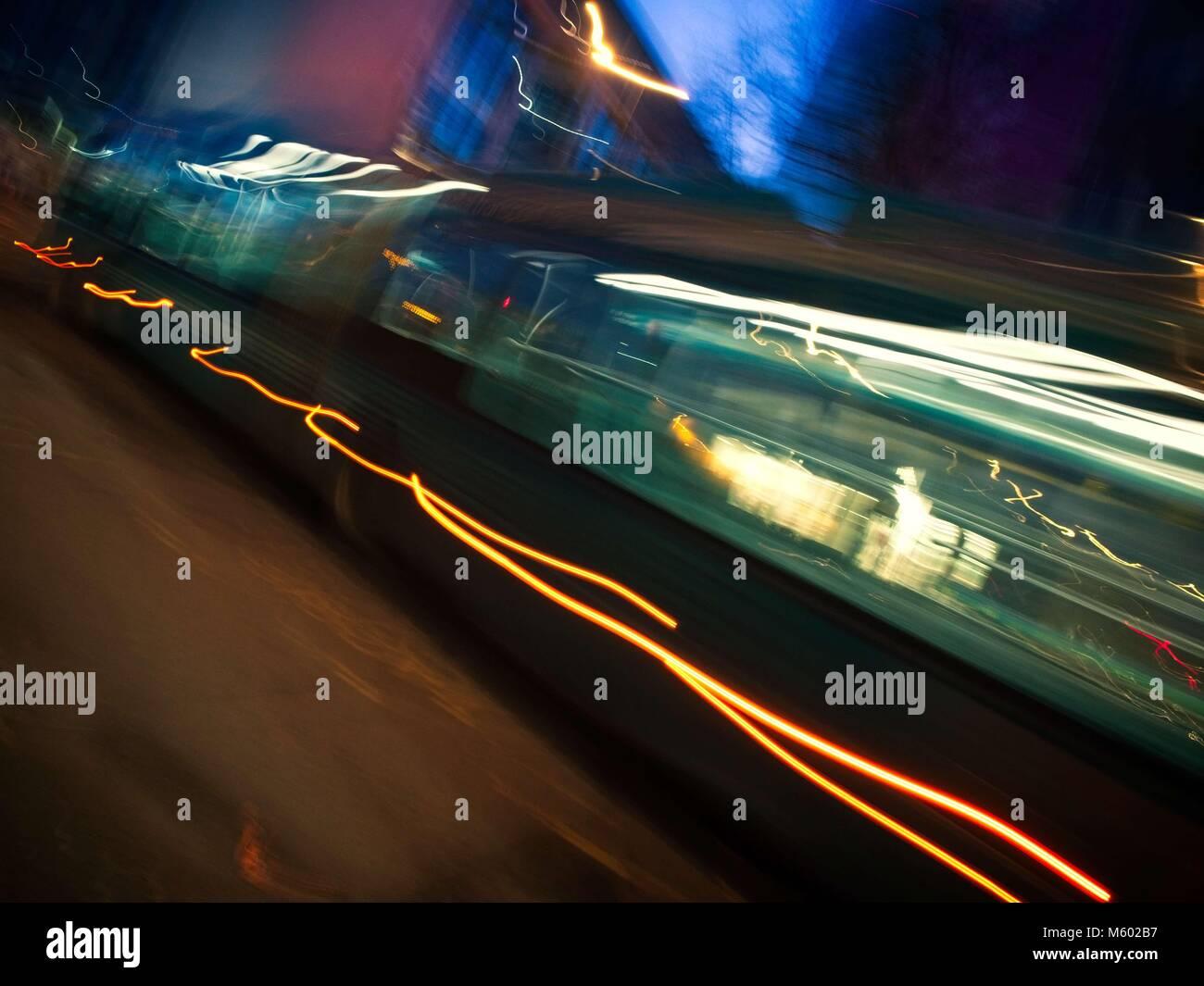 Speeding Bus - Stock Image