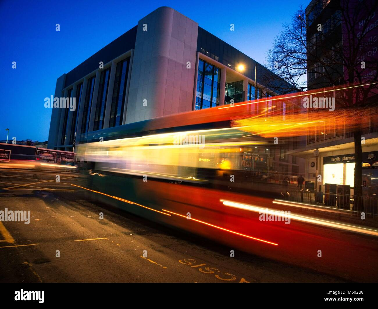Speeding Bus  3 - Stock Image