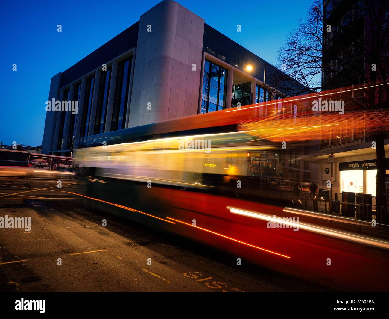 Speeding Bus  2 - Stock Image