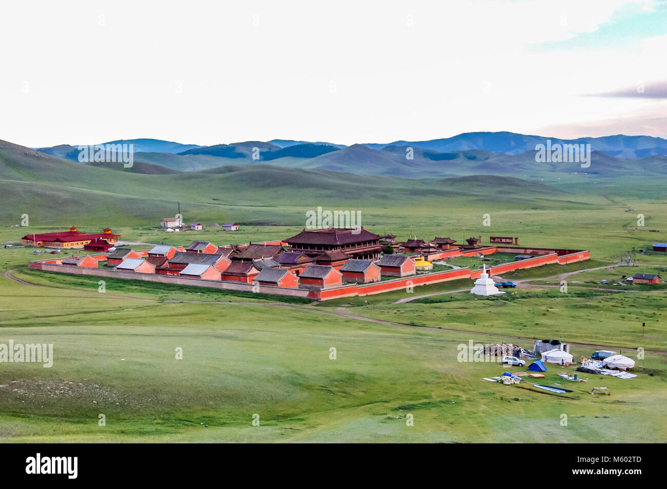 Amarbayasgalant Monastery, Mongolia -  July 16, 2010: Amarbayasgalant Monastery, one of the three largest Buddhist - Stock Image