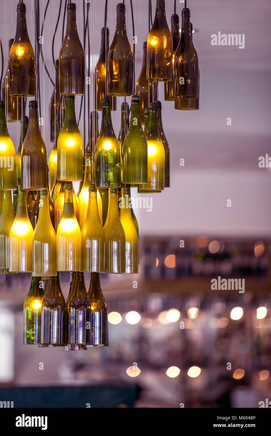 Lighting fixtures in modern interior. - Stock Image