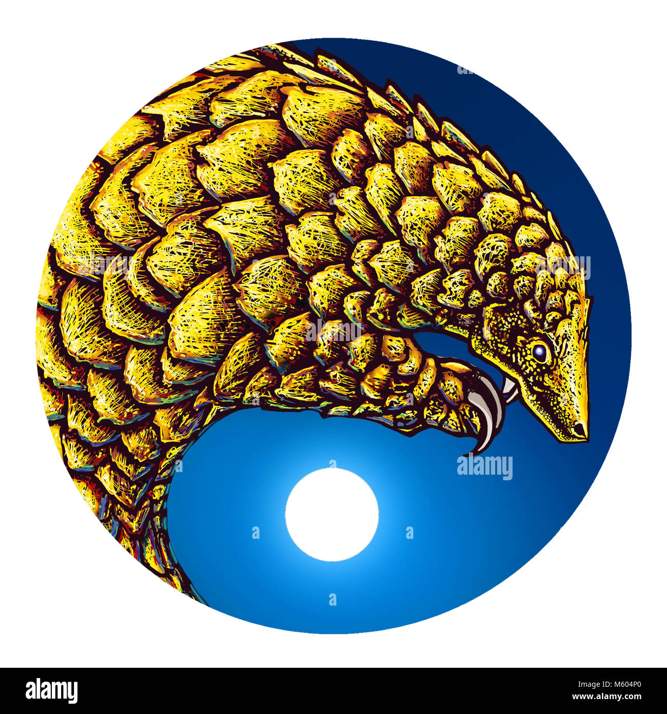 Illustration of a Pangolin. - Stock Image