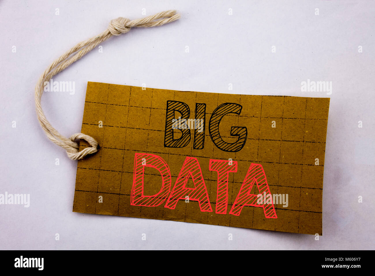 Handwriting Announcement text showing Big Data. Business concept for online sale Digital Business Analysis written Stock Photo