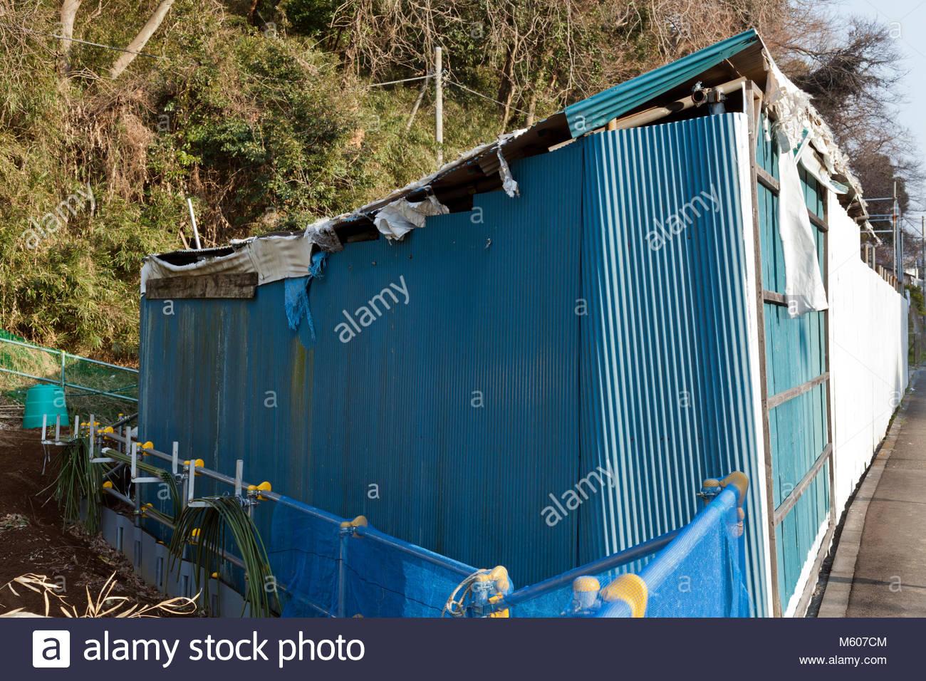 Delipidated Corrugated Metal Storage Shack