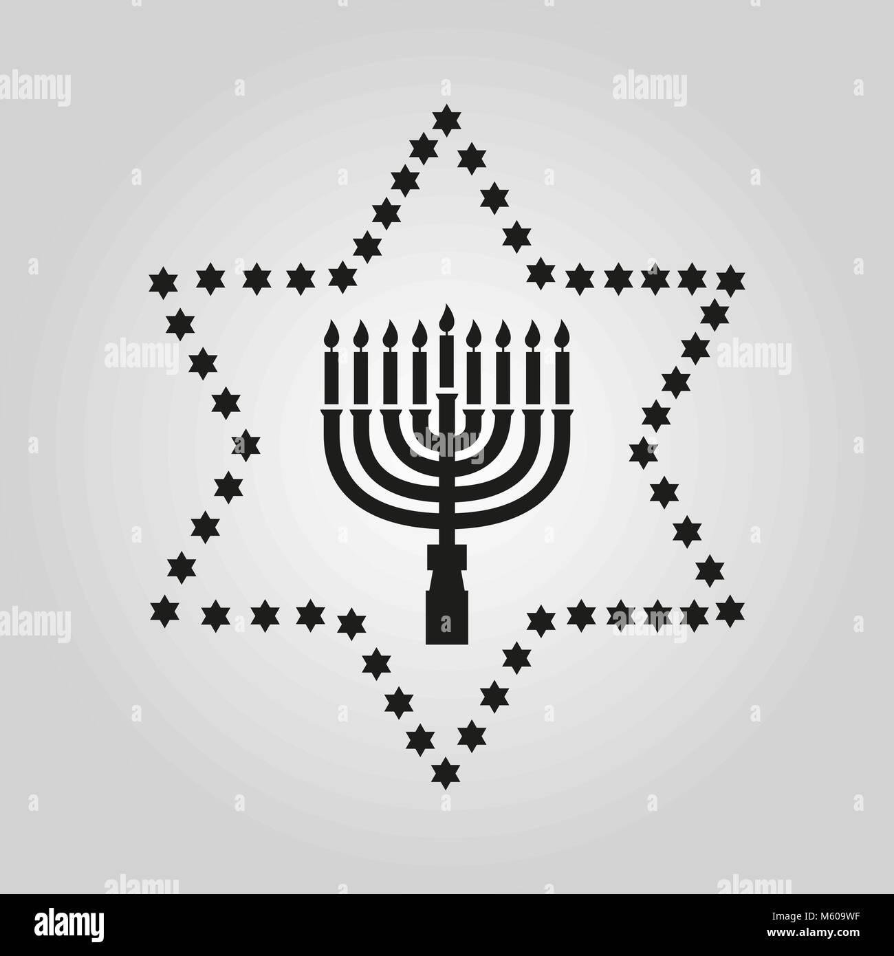 Happy Hanukkah Black And White Stock Photos Images Alamy