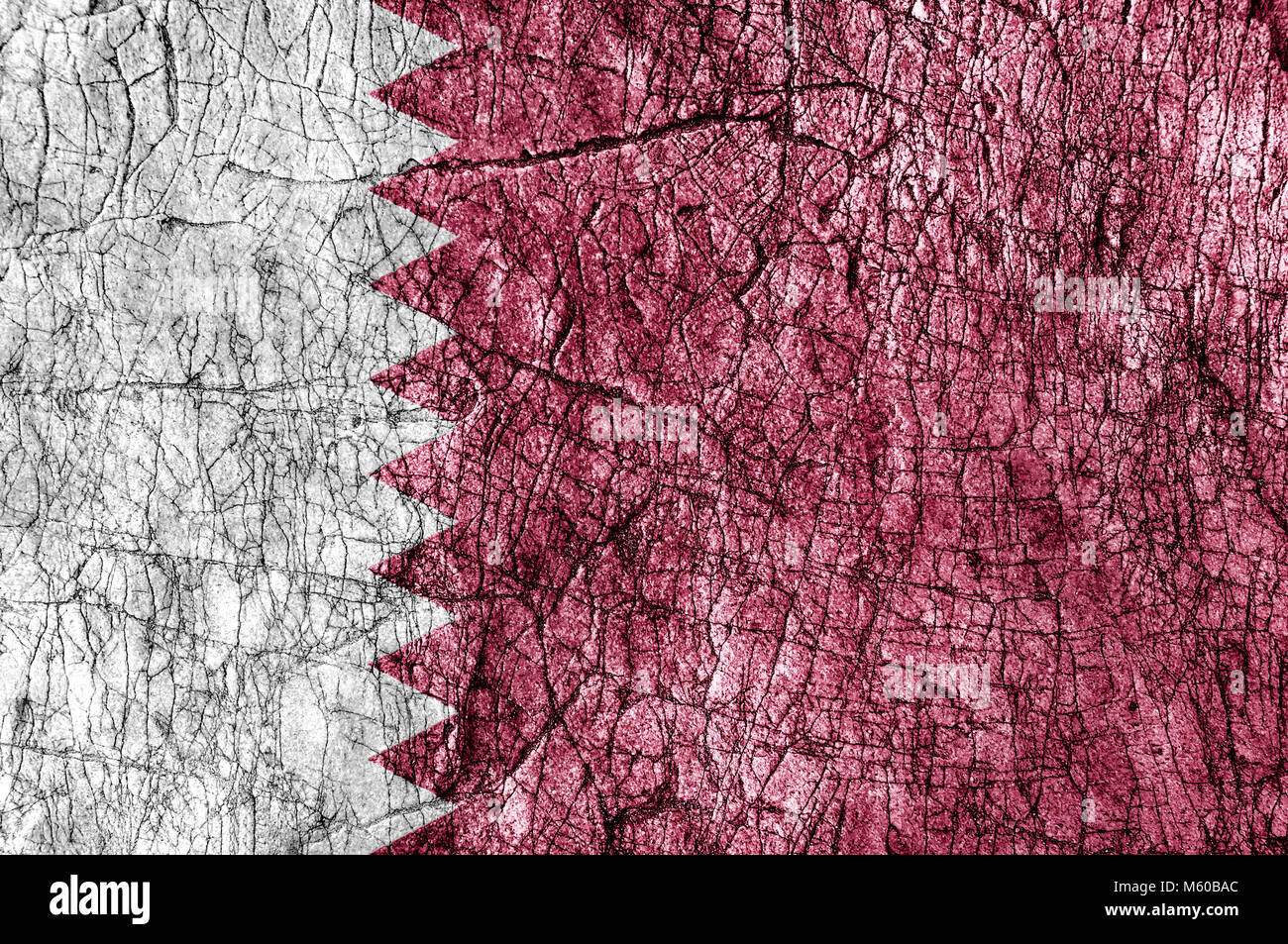 Grudge stone painted Qatar flag Stock Photo: 175800532 - Alamy