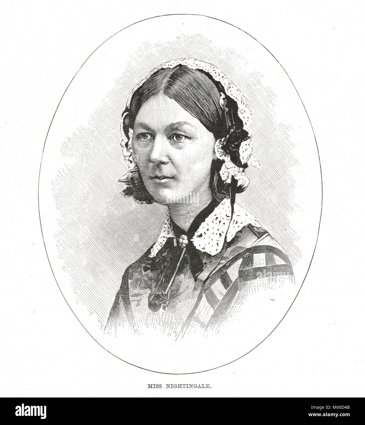 Florence Nightingale, The Lady with the Lamp - Stock Image