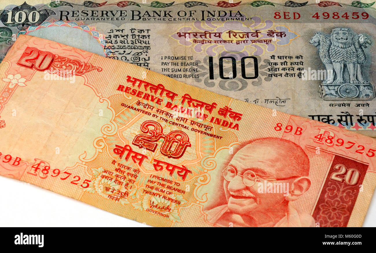 Indian Rupee Currency Bank Note - Stock Image