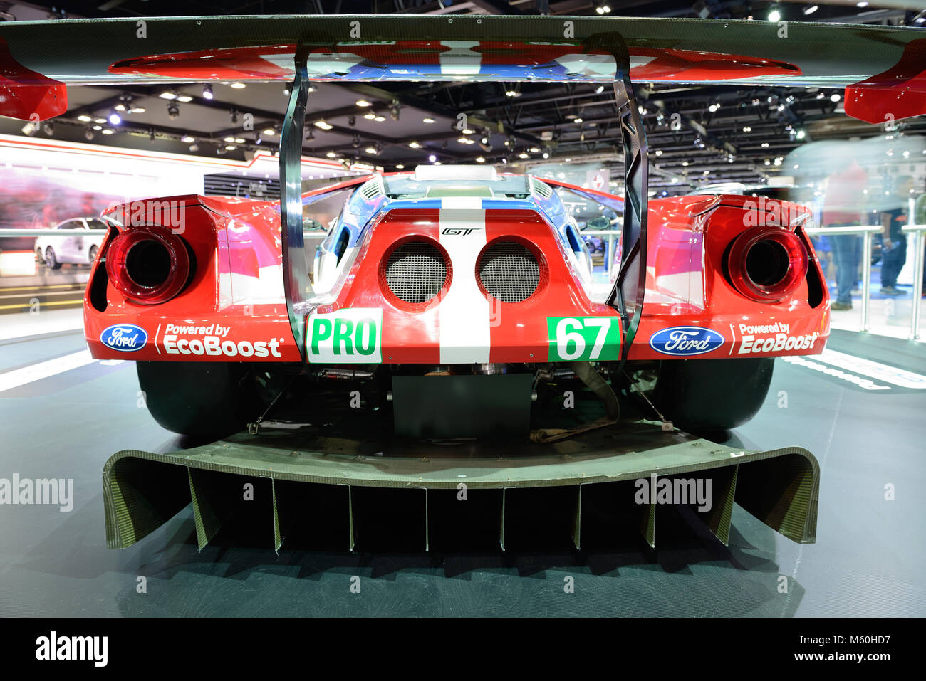 Dubai Uae November  The Ford Gt Race Car Is On Dubai Motor Show  On November