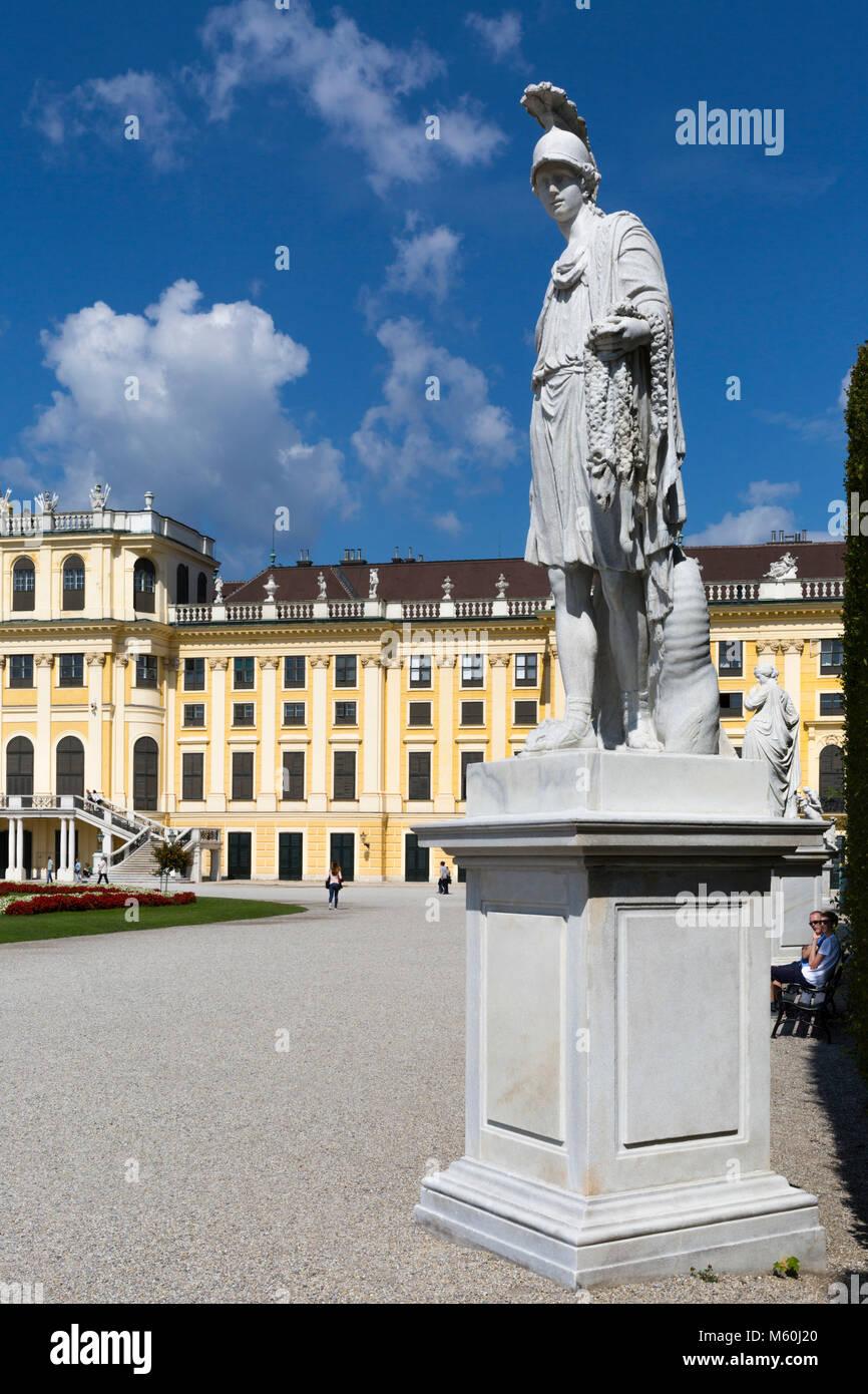 Schönbrunn Palace gardens, Schonbrunn, Vienna, Austria. Stock Photo