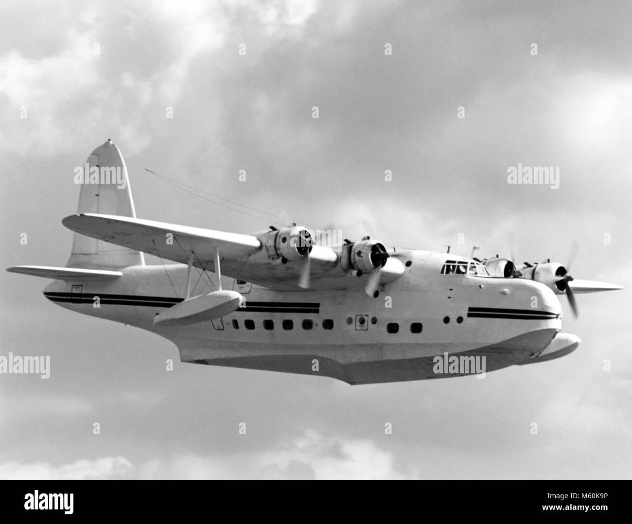 Short Sunderland flying boat, the last flying example - Stock Image