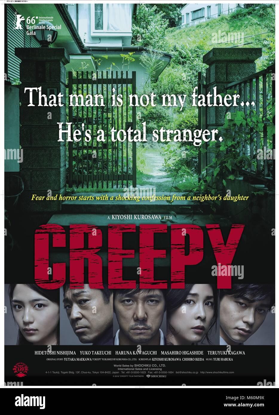 MOVIE POSTER CREEPY (2016) - Stock Image