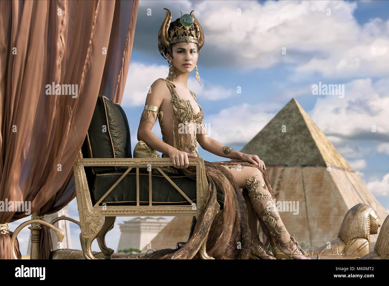 ELODIE YUNG GODS OF EGYPT (2016) - Stock Image