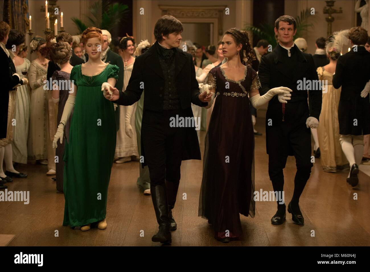 ELLIE BAMBER SAM RILEY LILY JAMES & MATT SMITH PRIDE AND PREJUDICE AND ZOMBIES (2016) - Stock Image