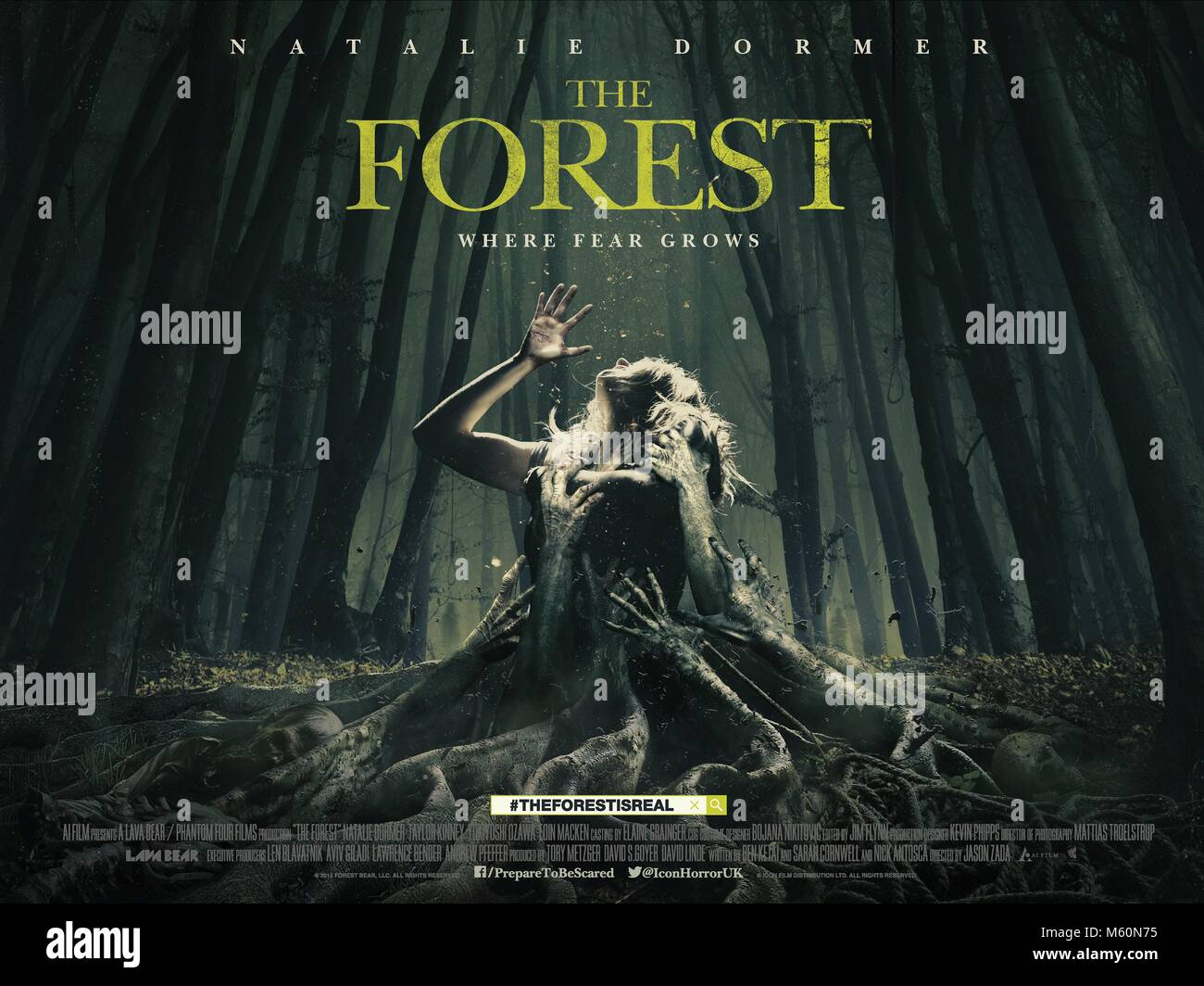 MOVIE POSTER THE FOREST (2016) - Stock Image